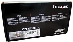 Lexmark Drum Kit zwart cyaan magenta geel  - 20000 pagina's - C734X24G