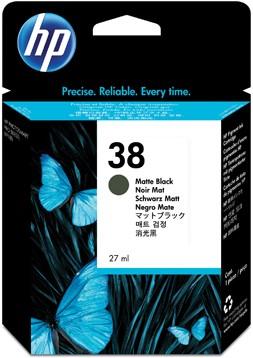 HP 38 Inktcartridge mat zwart C9412A