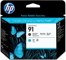 HP 91 cartridge C9460A mat zwart & cyaan