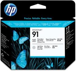 HP 91 cartridge C9463A licht grijs & zwart