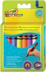 Crayola Mini Kids driehoekige waskrijtjes, ophangbaar doosje met 16 stuks in geassorteerde kleuren