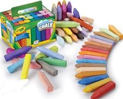Crayola stoepkrijt, doos met 48 stuks in geassorteerde kleuren