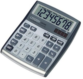 Citizen bureaurekenmachine CDC-80 Allrounder zilver