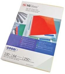GBC schutblad HiGloss A4 wit 250 micron pak van 100 stuks