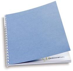GBC schutblad leatherlook A4 blauw 250 micron pak van 100 stuks