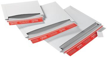 Kartonnen envelop Colompac opening aan lange zijde 24,8 x 17,4 x 3 cm wit pk/20