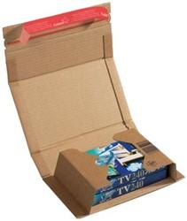 Wikkelverpakking Colompac 21,7 x 15,5 x 6 cm bruin pk/20