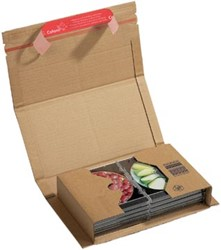 Wikkelverpakking Colompac 25,1 x 16,5 x 6 cm bruin pk/20