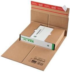 Wikkelverpakking Colompac 23 x 16,5 x 7 cm bruin pk/20