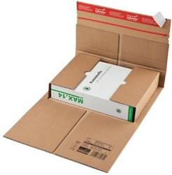 Wikkelverpakking Colompac 25 x 19 x 8,5 cm bruin pk/20
