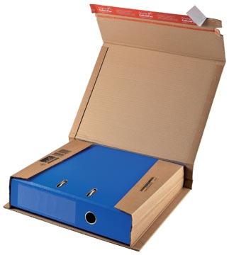 Wikkelverpakking voor ordner 32 x 29 x rug 3,5 - 8cm bruin pk/20