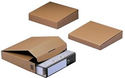 Wikkelverpakking voor smalle ordner 32,5 x 28,8 x 5 cm bruin pk/20