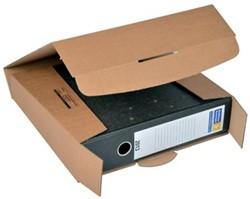 Wikkelverpakking voor brede ordner 32,2 x 28,8 x 8 cm bruin pk/20