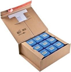 Wikkelverpakking Colompac 33 x 29 x 12 cm met pocket voor envelop pk/10