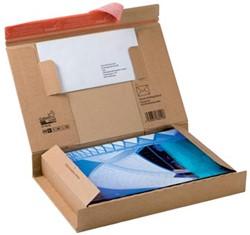 Wikkelverpakking Colompac 268 x 345 x 16 met pocket voor envelop pk/2