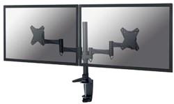 Monitor arm met zwenkarm voor twee schermen