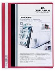 Durable personaliseerbare snelhechtmap Duraplus rood