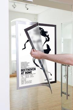 Posterlijst A2 zelfklevend zilver