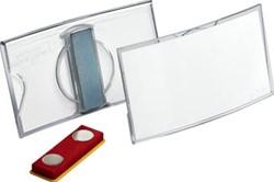 Durable badge met magneet ft 40 x 75 mm