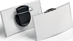 Durable convexe badge met combiklem, uit acryl, doos van 25 stuks