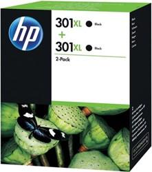 HP 301XL cartridge D8J45AE zwart inhoud 8ml x 2
