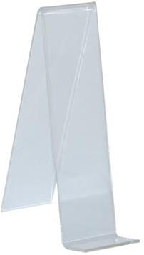 Boekenstandaard staand transparant 5 x 18 cm