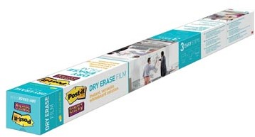 Post-It Super Sticky Dry Erase whiteboardfolie op rol, ft 1,219 x 1,829 m