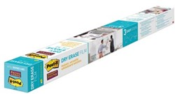 Post-It Super Sticky Dry Erase whiteboardfolie op rol, ft 1,219 x 2,438 m