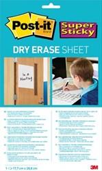Post-It Super Sticky Dry Erase whiteboardvel, ft 17,7 x 28,8 cm