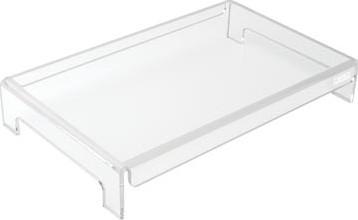 Transparante monitorstandaard / laptopstandaard vaste hoogte 7cm Desq