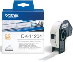 Brother labels DK-11204 multifunctionele etiketten 17 x 54 mm 400 labels