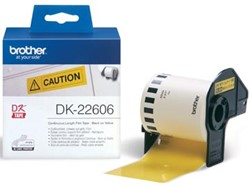 Brother labels DK-22606 continue label geel 62 mm x 1524 m plastic
