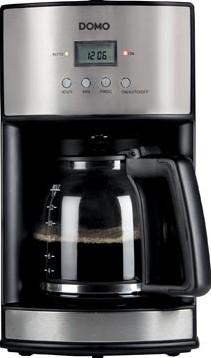Domo koffiezetapparaat met timer en permanente filter 1,8 liter, inox