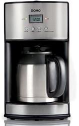 Domo koffiezetapparaat met timer en permanente filter 1,2 liter, inox