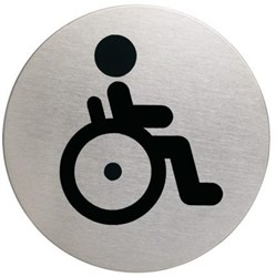 Durable pictogram invalidentoilet (rond)