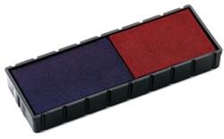 Colop stempelkussen blauw/rood, voor stempel S120WD, blister van 2 stuks