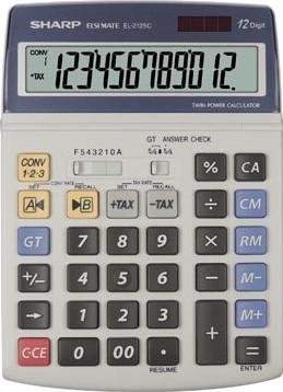 Sharp bureaurekenmachine EL2125C