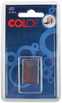 Colop stempelkussen tweekleurig (blauw/rood), voor stempel S160L, blister van 2 stuks