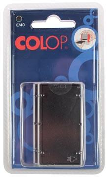 Colop stempelkussen zwart, voor stempel P40, P40N, blister van 2 stuks