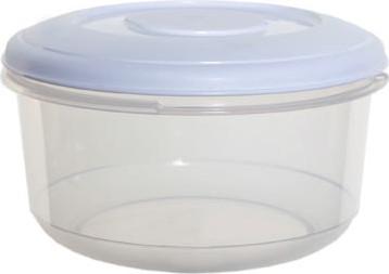 Whitefurze vershouddoos rond 1 liter, transparant met wit deksel
