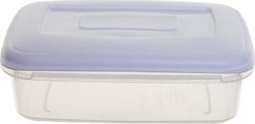 Whitefurze vershouddoos rechthoekig 0,8 liter, transparant met wit deksel