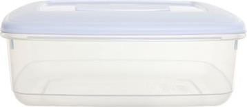 Whitefurze vershouddoos rechthoekig 3 liter, transparant met wit deksel