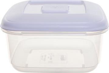 Whitefurze vershouddoos vierkant 2,3 liter, transparant met wit deksel
