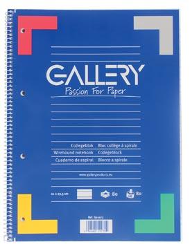 Gallery spiraalblok gelijnd, met rode kantlijn