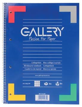 Gallery spiraalblok geruit 5 mm, met grijze kantlijn
