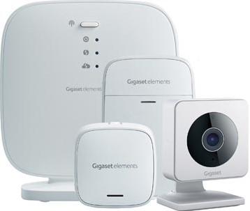 Gigaset all you need beveiligingspakket met deur-raamsensor, bewegingssensor en WLAN indoor smartcamera