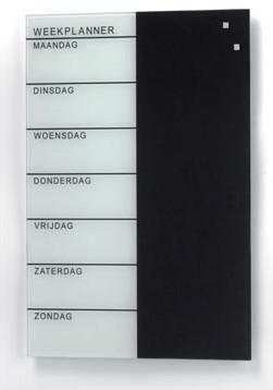 Weekplanner Nederlandstalig Naga wit/zwart 40 x 60cm