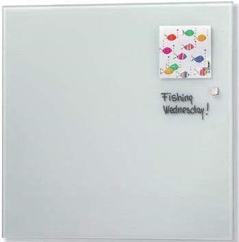 Magnetisch glasbord Naga wit 35 x 35cm