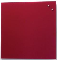 Naga magnetisch glasbord rood