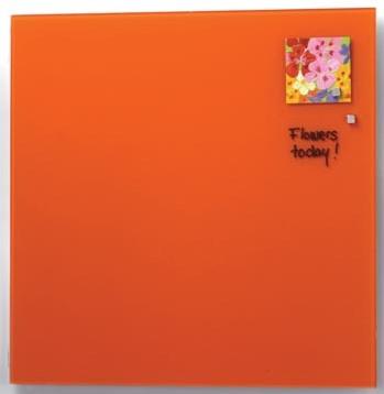 Magnetisch glasbord Naga oranje 45 x 45cm